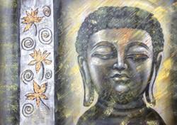 Buddha,Peace,Meditation,Buddhism,Buddha with Gold Flower