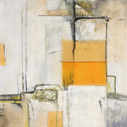 Citysketch - 32in X 32in,28ABT103_3232,White, Light Shades,80X80,Abstract Art Canvas Painting
