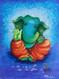 Blue Ganesha, religious, abstract,Blue Ganesha,ART_1292_11103,Artist : Shilpa Mathur,Acrylic