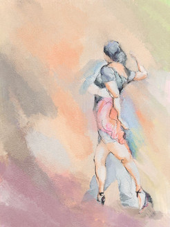31Dance54 - 24in X 36in - Painting