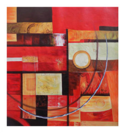 abstract painting, red, orange, pink shade painting,G MAK-ABSTRACT 3,ART_1033_11039,Artist : PARESH MORE,Acrylic