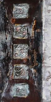 Miramar - 16in X 32in,26Heavy17_1632,Black, Dark Shades,40X80 Size,Heavy Texture Art Canvas Painting
