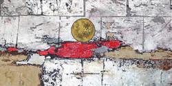 RisingSun - 32in X 16in,26Heavy29_3216,Black, Dark Shades,80X40 Size,Heavy Texture Art Canvas Painting