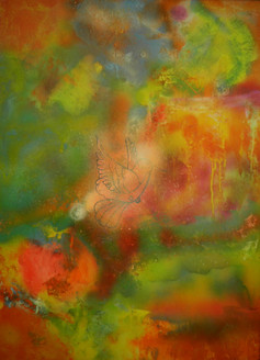 Energise - 30in x 40in,ART_PIAA7_3040,Green,Acrylic Colors,Color Magic,Artist - Preeti AroraColor Art,Canvas,Yellow Background,Museum Quality - 100% Handpainted,Preeti Arora,Rs.5890,Abstract;Latest Collection;By Orientation and Size/Vertical/Large (3