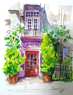 door, country, english, borough, pen, urban, city, watercolor, sketch, real,The borough,ART_607_11431,Artist : Amaey Parekh,Mixed Media