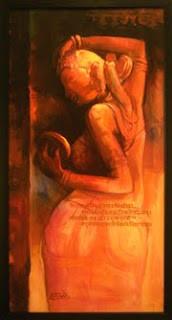 """,Naari_02 24"""" X 48"""",ART_1391_2938,Artist : Arun Suryawanshi,Acrylic on Canvas"""