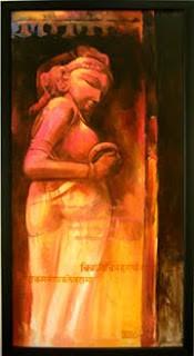 """,Naari_02 24"""" X 48"""",ART_1391_2937,Artist : Arun Suryawanshi,Acrylic on Canvas"""
