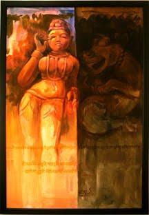 """,Naari_02 36"""" X 48"""",ART_1391_2935,Artist : Arun Suryawanshi,Acrylic on Canvas"""