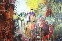 ,MUSIC ON FIRE,ART_1180_13355,Artist : Vrushali A Kamthe,Acrylic