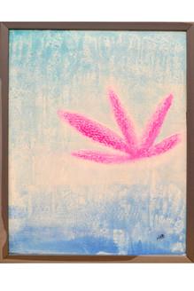 lotus, peace, purity, blue, white, pink, abstract, textured,Purity- Lotus,ART_1696_13971,Artist : Nikita Das,Mixed Media