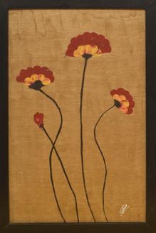flower, poppy, poppies, golden, bloom, peace, no war,Poppy- Say Peace No War,ART_1696_13970,Artist : Nikita Das,Oil