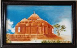peace,Akshardham Temple,ART_1703_14009,Artist : Gopal Rao,Oil