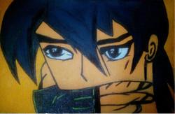 Anime Character cartoons posters,Takashi ( High School of Dead Charater ),ART_1755_14383,Artist : Akshata  Sawant,Acrylic