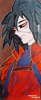 Anime Manga Cartoon Charaters,Madara Uchiha (Fictional Character),ART_1755_14480,Artist : Akshata  Sawant,Acrylic