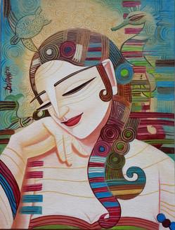 ,Dream 2,ART_836_5564,Artist : Debkumar Bhattacharyya (Seller),Acrylic