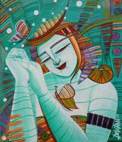 ,Dream 1  10 x 12 inch.,ART_836_5563,Artist : Debkumar Bhattacharyya (Seller),Acrylic