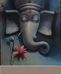 ,Ganesh 22,ART_836_5416,Artist : Debkumar Bhattacharyya (Seller),Acrylic