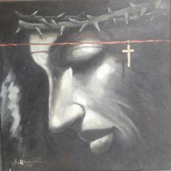 ,Jisas ,ART_836_14298,Artist : Debkumar Bhattacharyya (Seller),Acrylic