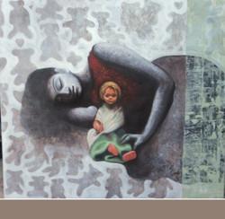 ,Doll I,ART_836_5410,Artist : Debkumar Bhattacharyya (Seller),Acrylic