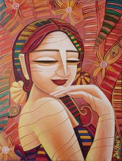 ,Queen 7,ART_836_4138,Artist : Debkumar Bhattacharyya (Seller),Acrylic
