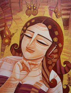 ,Queen 4,ART_836_4135,Artist : Debkumar Bhattacharyya (Seller),Acrylic