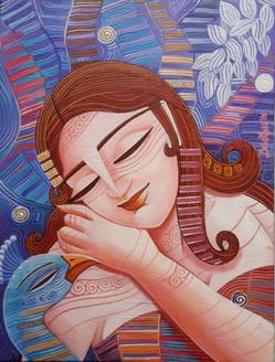 ,Queen 3,ART_836_4134,Artist : Debkumar Bhattacharyya (Seller),Acrylic