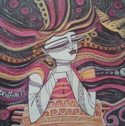 ,Queen 2,ART_836_4133,Artist : Debkumar Bhattacharyya (Seller),Acrylic