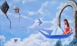 acrylic on canvas,figurative, fantasy,Surrealism,Ichche Ghuri,ART_1790_14616,Artist : Sabir Haque,Acrylic