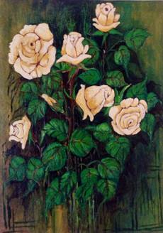 Roses - 22in X 28in,ART_VASH14_2228,Artist Vibha Singh,Flower,Floral,roses,Beauty of Roses,Floral - Buy Paintings Online in India.