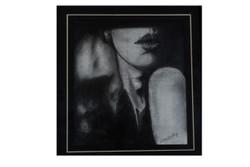 beauty,lady,charcoal,Sensual,ART_35_11220,Artist : Saikat Choudhury,Charcoal