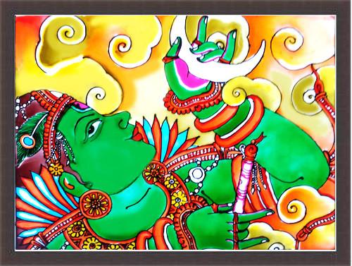DEVOTIONAL,MURAL ART,ART_1299_11133,Artist : ASWATHY SUGATHAN,Mixed Media
