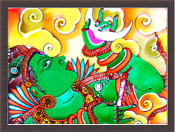 DEVOTIONAL,MURAL ART,ART_1299_11133,Artist : ASWATHY SUGATHAN,Mixed Media