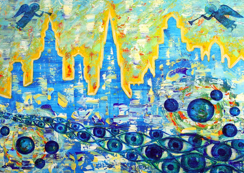 Buy heaven abstract handmade painting by community artists group beautiful abstract paintingsabstract paintingsheaven abstractmto155014996artist community artists sciox Images