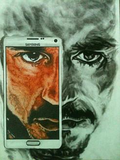 Stippling, Pen, Dots, Ironman, Tony stark, Paper,Transformation,ART_1898_15476,Artist : Ravish Choudhary,Ink