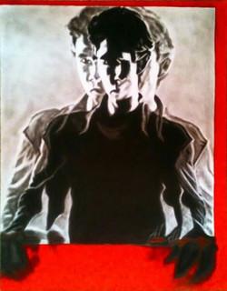Illusion, charcoal, 3D, Man ,Illusion,ART_1898_15474,Artist : Ravish Choudhary,Mixed Media