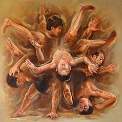 Struggle, Life, People, Indonesia,Struggle,ART_1976_16205,Artist : Afriani Afriani,Oil