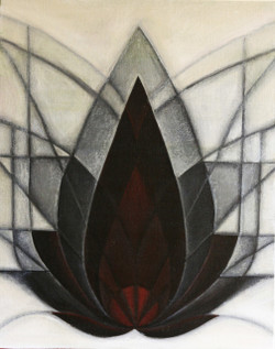 lotus, black& white, abstract,Padma - the lotus,ART_647_16399,Artist : Jigisha Dwivedi,Mixed Media