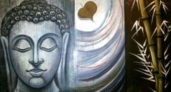 ,Buddha Bamboos,ART_1229_1988,Artist : Pallavi Jain,Acrylic
