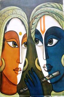,Romance 02,ART_1229_1423,Artist : Pallavi Jain,Acrylic