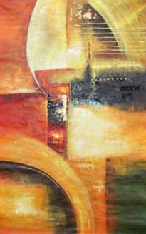 Abstract ,Confluence of colours,ART_1522_17402,Artist : Ram Achal,Acrylic