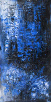 StandingBlueGates2 - 24in X 48in,25ABT748_2448,Blue, Violet, Mauve,60X120 Size,Abstract Art Canvas Painting