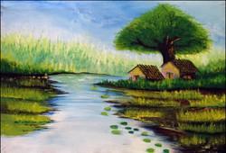 landscape,the country side,ART_2580_18998,Artist : Ankita Goenka,Water Colors