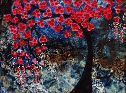 tree, forest, bloomimg,the blooming tree,ART_2580_18970,Artist : Ankita Goenka,Mixed Media