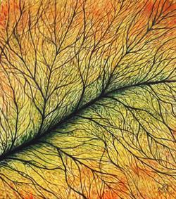 Tree, leaf, abstract, veins, branches,Intricate,ART_464_19690,Artist : Seby Augustine,Acrylic