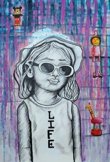 ,I LOVE LIFE 03,ART_1522_19889,Artist : Ram Achal,Acrylic