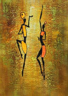 Figurative ,African art 08,ART_1522_19911,Artist : Ram Achal,Acrylic