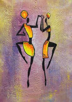 Figurative ,African art 03,ART_1522_19906,Artist : Ram Achal,Acrylic