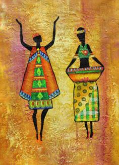 Figurative ,African art 02,ART_1522_19905,Artist : Ram Achal,Acrylic