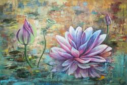 Abstract ,abstract lotus ,ART_1522_19902,Artist : Ram Achal,Acrylic