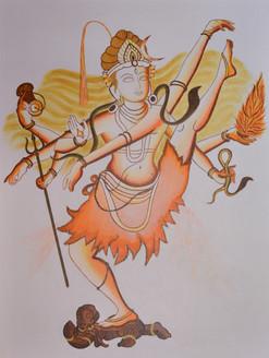 shiv tandav,shiv tandav,ART_3065_20818,Artist : Bobby Bangalore,Acrylic